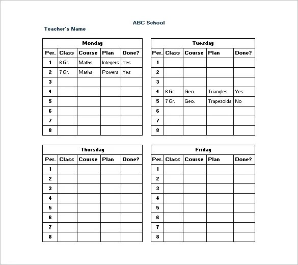 Daily Timetable Template Your Guide To Planning Each Day Daily - daily timetable