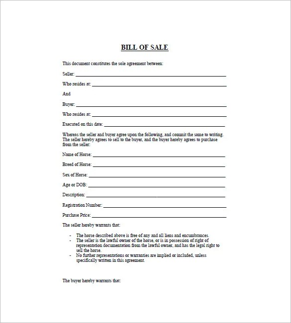 General Bill of Sale \u2013 14+ Free Word, Excel, PDF Format Download