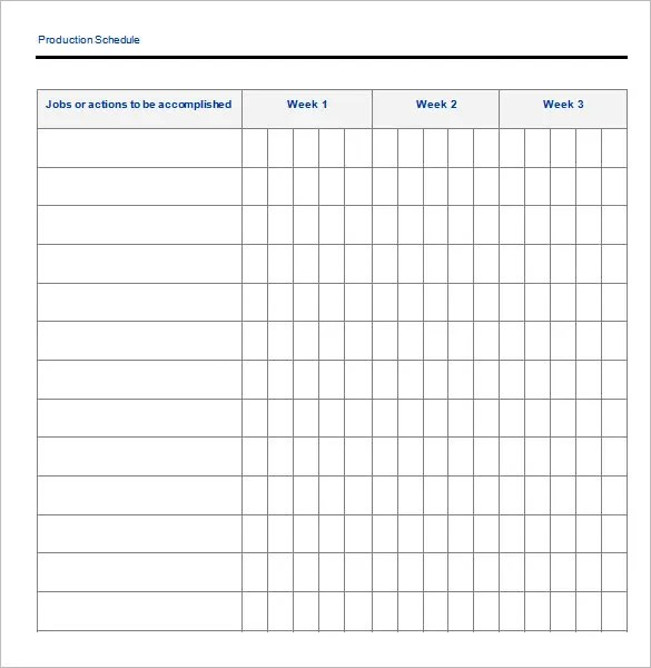 15+ Delivery Schedule Templates - PDF, DOC,Xls Free  Premium