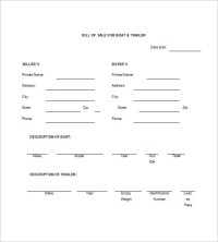 Great Trailer Bill Of Sale Template Pictures # Trailer ...