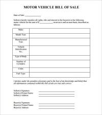 13+ Auto Bill of Sales - DOC, Excel, PDF   Free & Premium ...