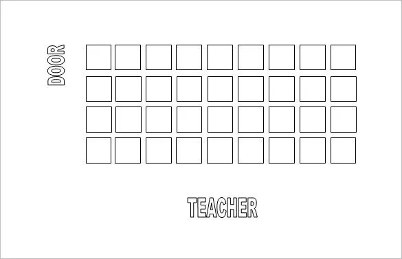 Classroom Seating Chart Template - 16+ Examples in PDF, Word, Excel - free printable seating chart