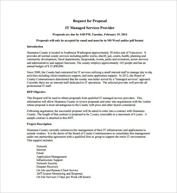 it services proposal template - 28 images - service proposal - it services proposal template