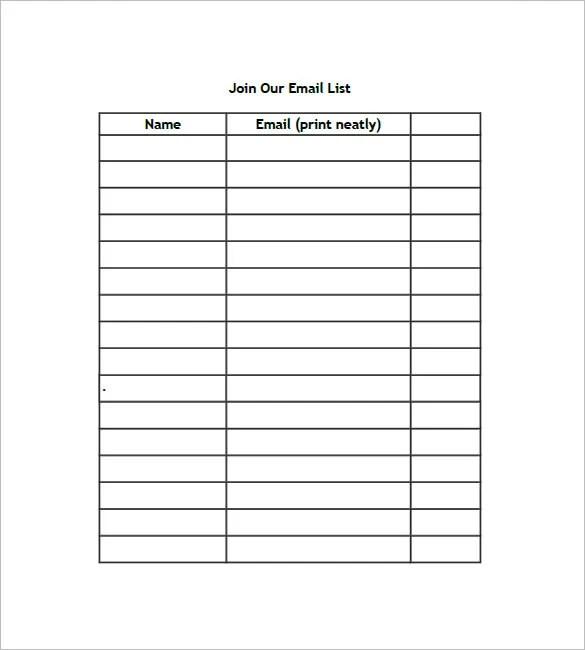 List Templates \u2013 105+ Free Word, Excel, PDF, PSD, Indesign Format