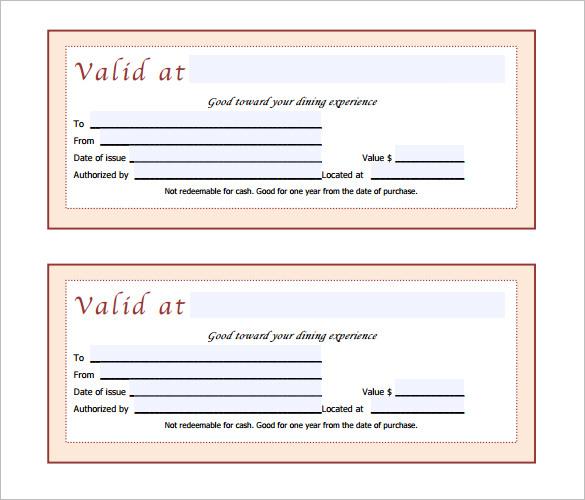 fancy gift certificate template free