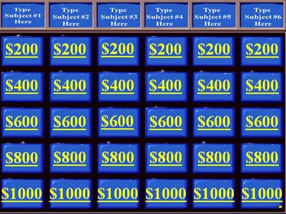 Jeopardy Template u2013 36+ Free Word, Excel, PPT, PDF Format Download - sample jeopardy powerpoint