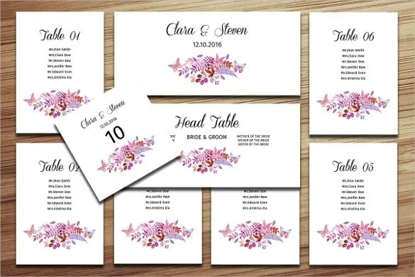 34+ Wedding Seating Chart Templates - PDF, DOC Free  Premium - seating charts for weddings