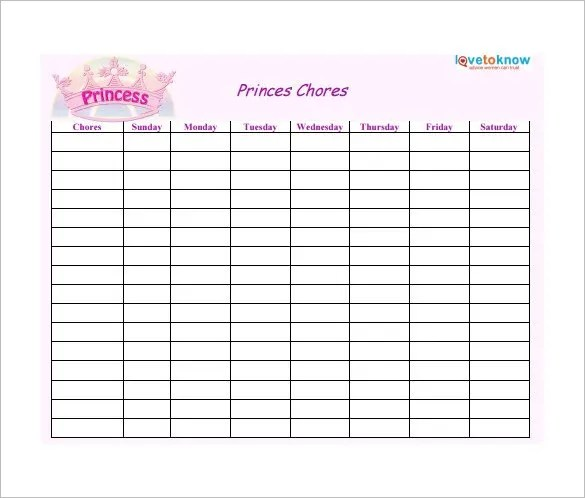 free chart templates for word