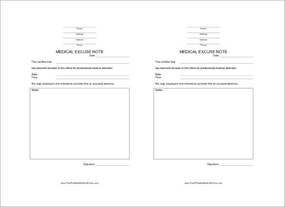 Doctors Note Template \u2013 8+ Free Word, Excel, PDF Format Download - doctor note word