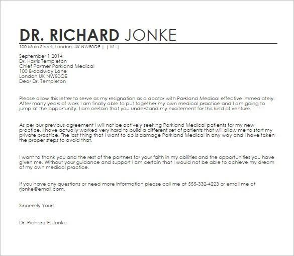18+ Doctor Letter Templates - PDF, DOC Free  Premium Templates