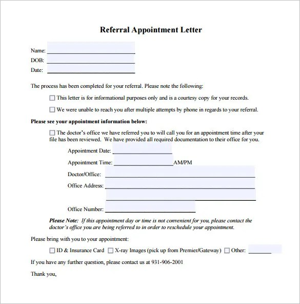 Doctor Letter Template - 17+ Free Sample, Example, Format Download - format of referral letter