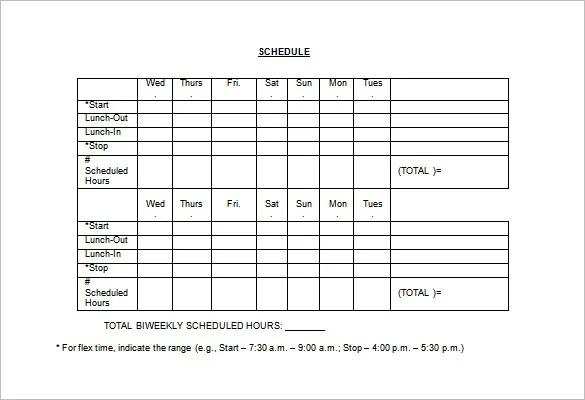 10+ Employee Schedule Templates - PDF, Word, Excel Free  Premium