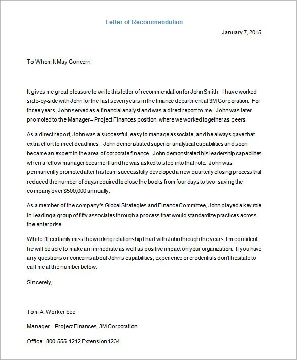 28+ Letter Templates - PDF, DOC, Excel Free  Premium Templates - writing captivating recommendation letter