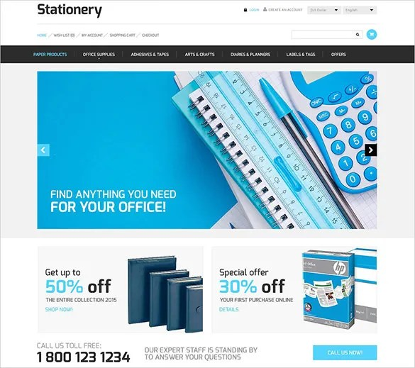 10+ Stationery OpenCart Themes  Templates Free  Premium Templates - free online stationery templates