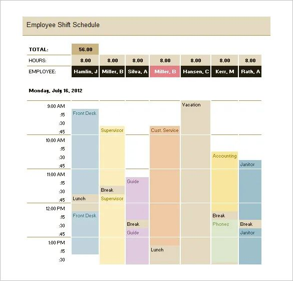 excel production schedule template