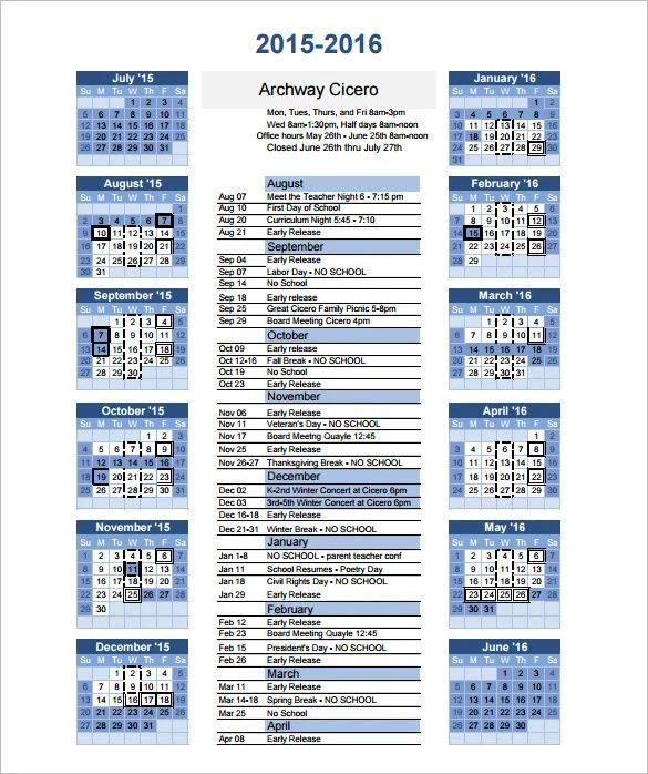 blank year calendar 2015