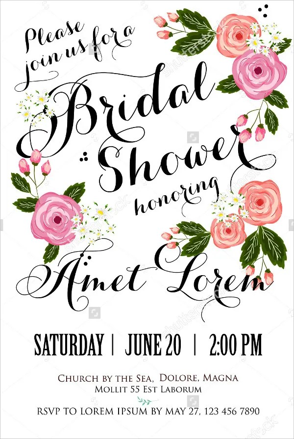 20+ Bridal Shower Invitations - Free PSD, Vector EPS PNG Format