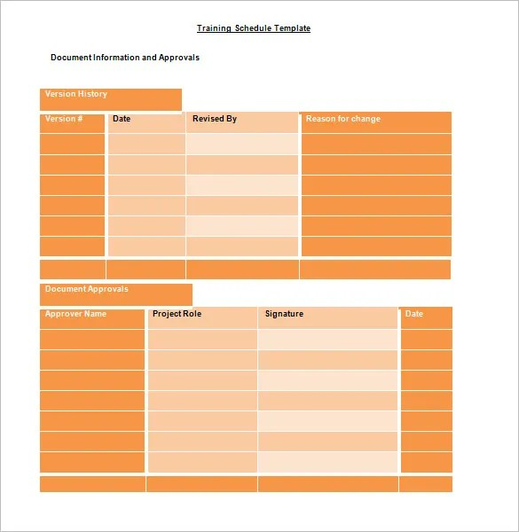 Training Schedule Template \u2013 8+ Free Sample, Example Format Download - sample training plan