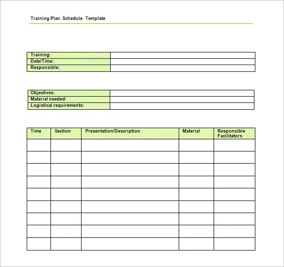 sample of training schedule template - Maggilocustdesign - Sample Training Plan