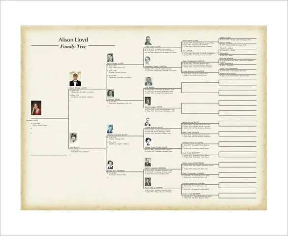 Family Tree Book Template \u2013 9+ Free Word, Excel, PDF Format Download