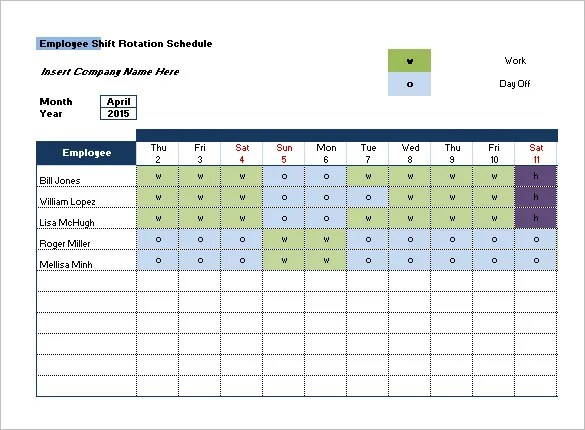 Shift Schedule Templates - 11+ Free Sample, Example Format Download