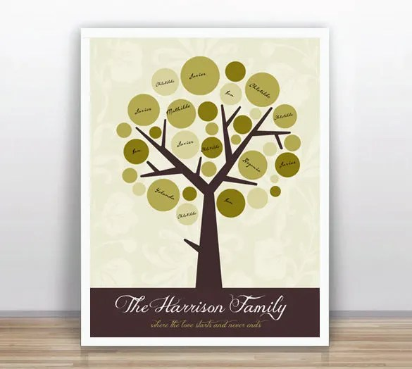Family Tree Book Template \u2013 9+ Free Word, Excel, PDF Format Download - printable guest book templates