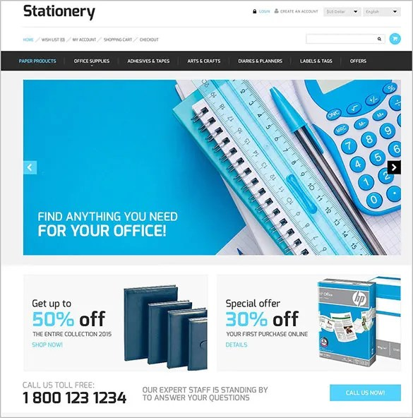 7 Business Services OpenCart Themes  Templates Free  Premium - free online stationery templates