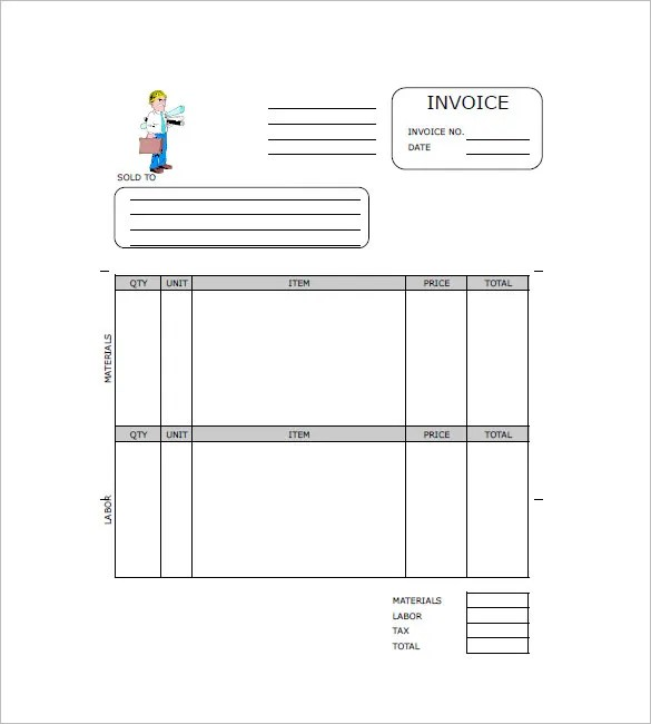 Contract Invoice Template \u2013 8+ Free Word, Excel, PDF Format Download - contractors invoice template