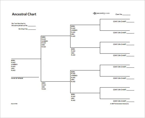 √ Family Tree Chart Template 11+ Free Sample, Example