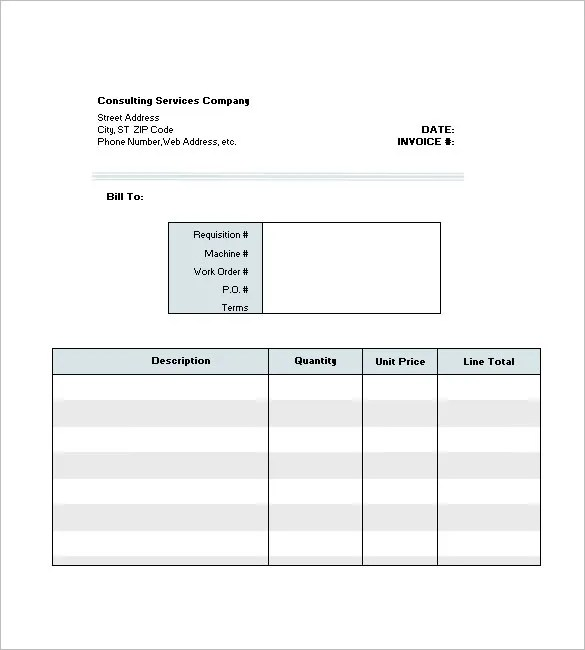 4+ Consultant / Consulting Invoice Template - Free Word, Excel, PDF