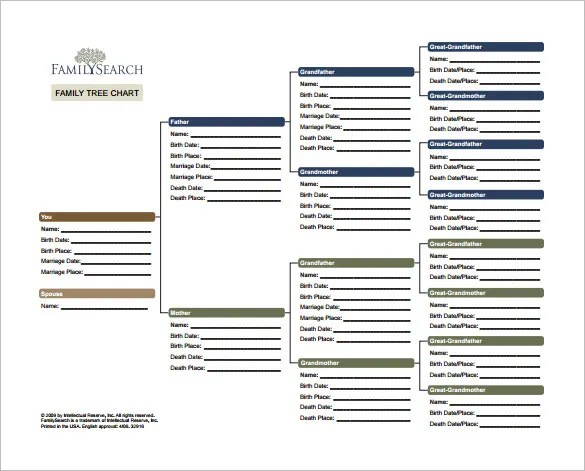 8+ Family Tree Chart Template - Free Word, Excel, PDF Format
