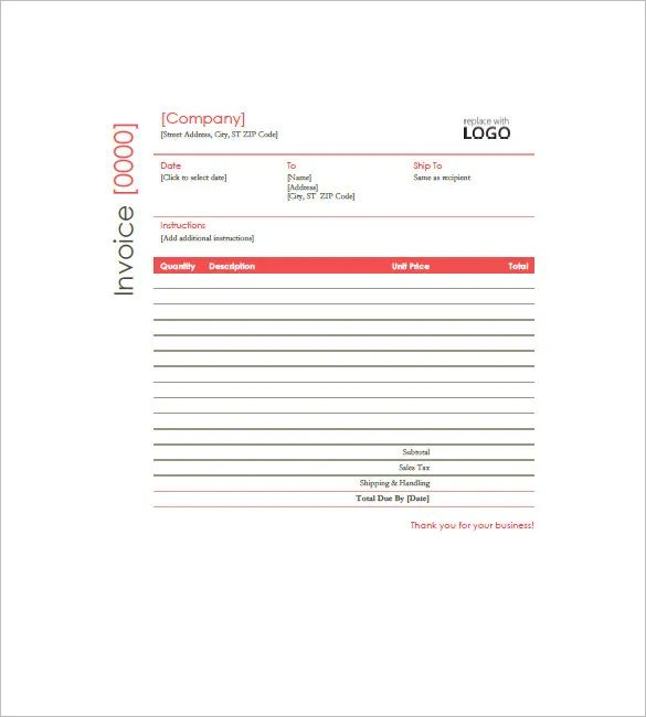invoice template with logo