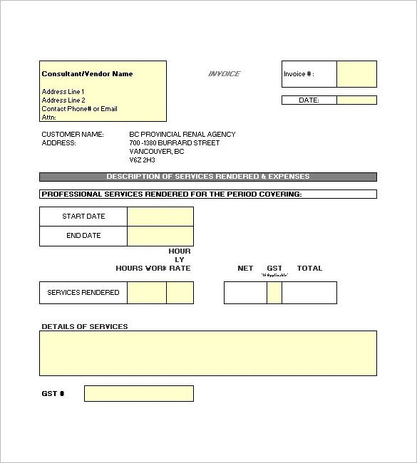 Construction Invoice Template \u2013 8+ Free Sample, Example, Format - invoice layout example