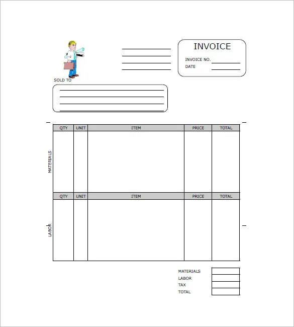 Construction Invoice Template - 15+ Free Word, Excel, PDF Format