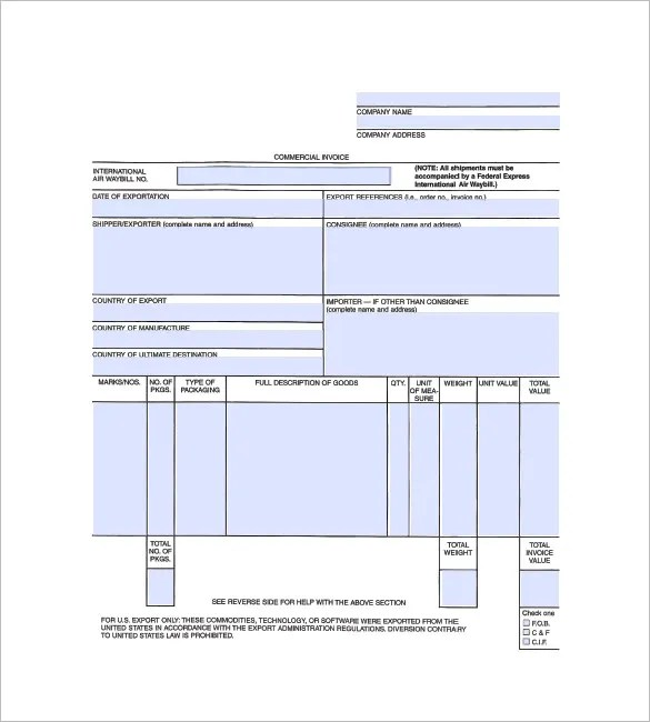 General Invoice Template - 27+ Free Word, Excel, PDF Format Download - invoice form free