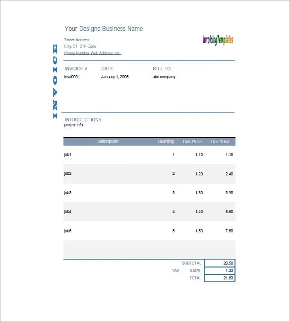 General Invoice Template - 27+ Free Word, Excel, PDF Format Download