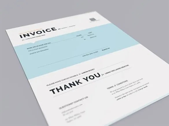 Designing Invoice Template u2013 10+ Free Sample, Example, Format - graphic design invoice sample