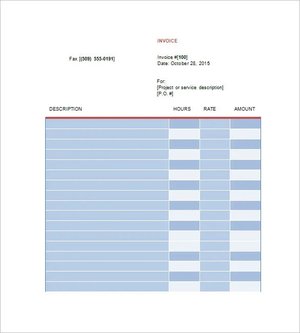 Designing Invoice Template u2013 10+ Free Word, Excel, PDF Format - invoice freelance template