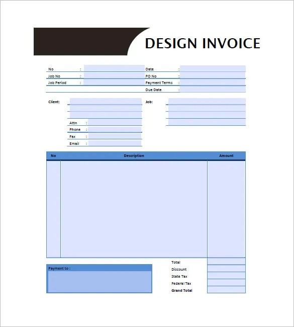 Designing Invoice Template \u2013 10+ Free Word, Excel, PDF Format