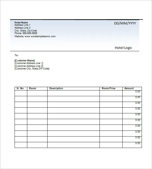 Hotel Invoice Template u2013 8+ Free Word, Excel, PDF Format Download - how to create an invoice on excel