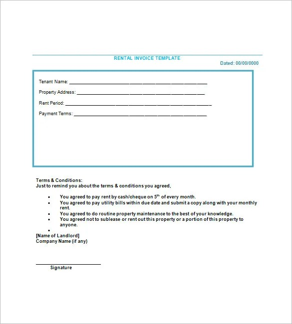 Lease Invoice Templates \u2013 14+ Free Word, Excel, PDF Format Download