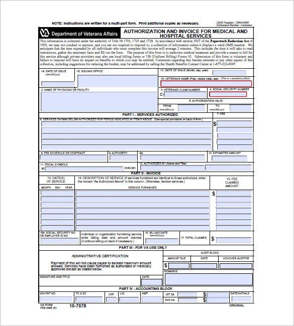 Medical / Health Invoice Template \u2013 10+ Free Sample, Example, Format