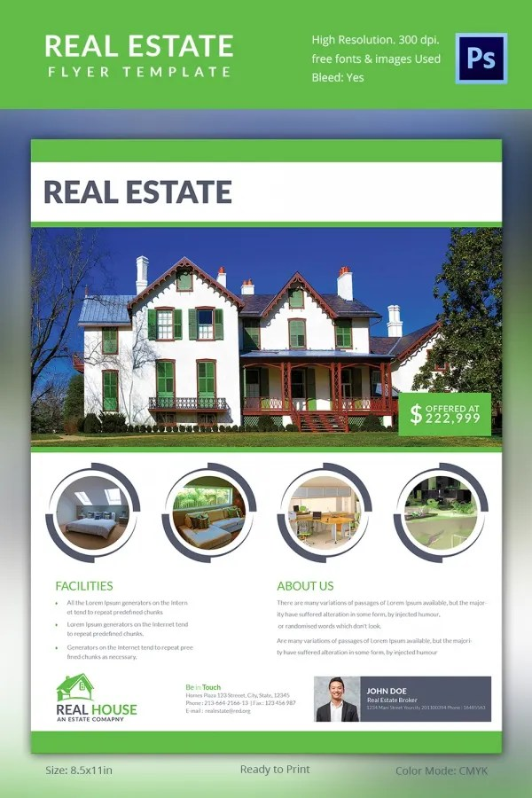 Free Real Estate Flyer Templates Download. Examples Of Cv For Nurses
