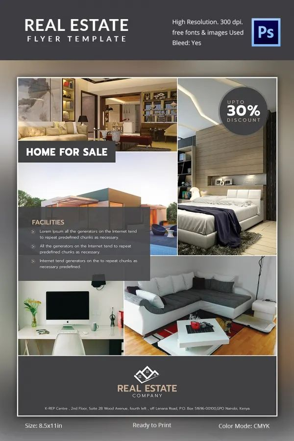 free real estate brochure templates