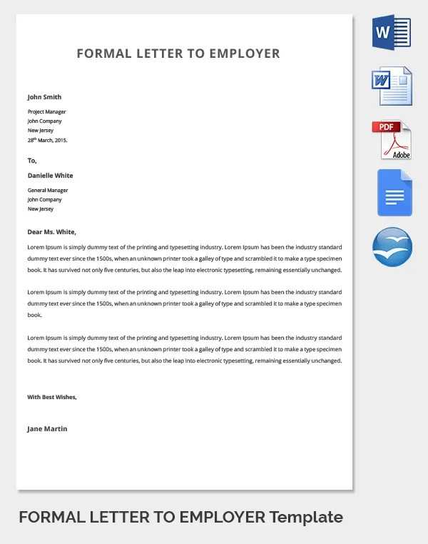 31+ Best Formal Letter Template - Free Sample, Example Format - formal letters