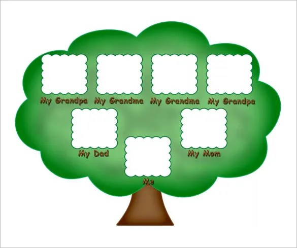 Kids Family Tree Template \u2013 10+ Free Sample, Example, Format - family tree example