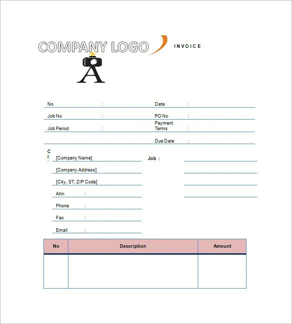 Photography Invoice Templates u2013 8+ Free Word, Excel, PDF Format - sample invoice quotation