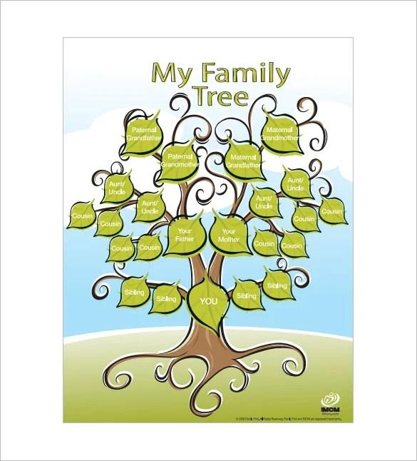 Kids Family Tree Template \u2013 10+ Free Sample, Example, Format - family tree example