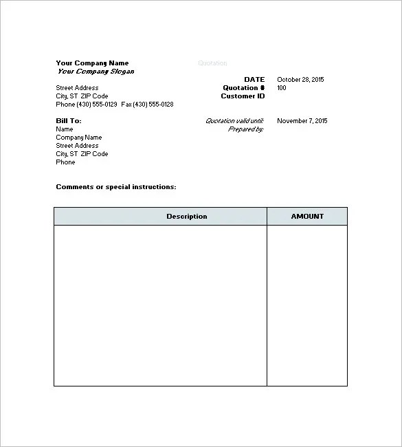 Business Quotation Sample Computer Price Quotation 41 Sample - sample invoice quotation
