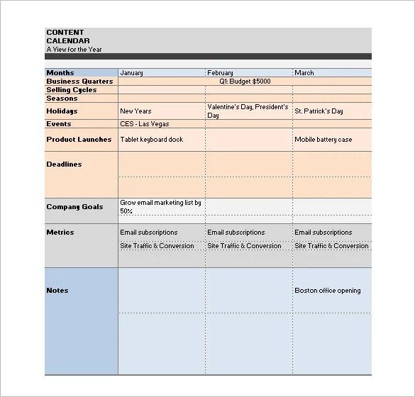 Media Schedule Template \u2013 7+ Free Sample, Example Format Download - sample marketing schedule
